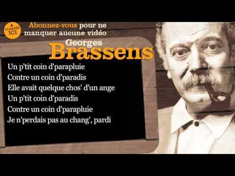 Georges Brassens - Le Parapluie