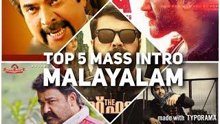 Top 5 Mass Intro In Malayalam