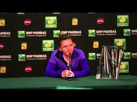 Simona Halep Champion Press Conference