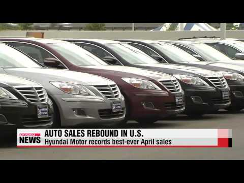Korean auto sales in April rebound in U.S.