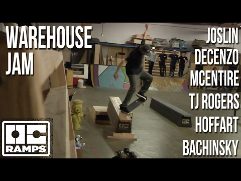 OC Team warehouse skate jam.  Feat; Chris Joslin, Cody McEntire, Ryan Decenzo and more