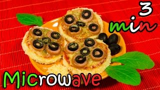 DIY Round Mini Pizza In Microwave In 3 minutes - Easy Recipe