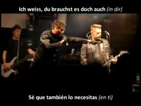 Oomph! Du Willst es Doch Auch - Live - Lyrics Alemán/Español