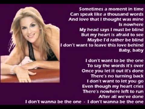 Trisha Yearwood - I Dont Want to be The One