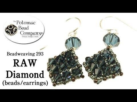 How to Make RAW Diamond Beads or Earrings