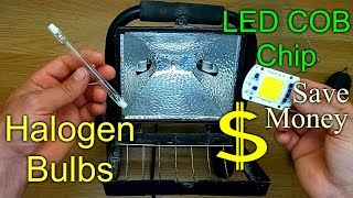 How to Replace / Convert a Halogen Floodlight with an LED Chip