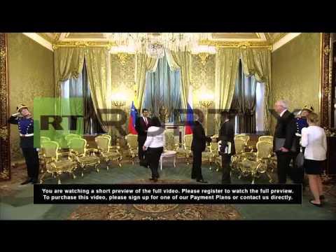 Russia: Maduro, Putin tout Russian-Venezuelan economic ties