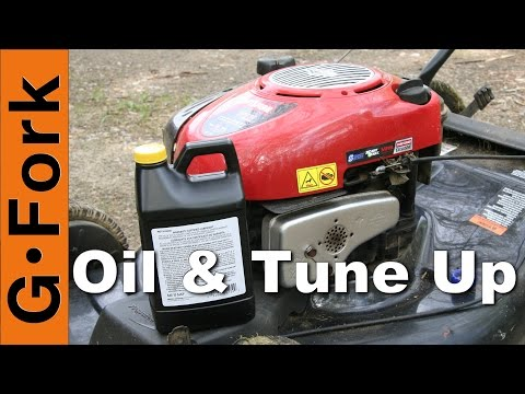 Change the Oil & Tune Up Lawnmower : GardenFork.T