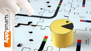 Pacman Learns Numbers with Wooden Puzzles - educational video for kids