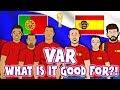 Lagu 📺VAR📺 WHAT IS IT GOOD FOR? Portugal & Spain don&39;t know! (Ronaldo elbow Cedric handball Aspas Goal)