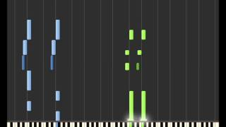 [Synthesia] Maji Love 1000% Easy Version + MIDI (TV Size) [Uta no Prince-Sama]
