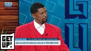 Jalen Rose dons iconic NBA draft suit   Get Up!   ESPN