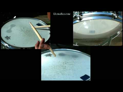 Snare Drum in slow motion 3000 FPS - UltraSlo