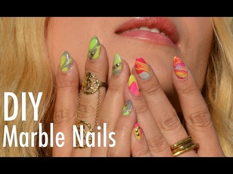 Marble Nail Art Tutorial - Regular and Gel Polish - with Mr. Kate