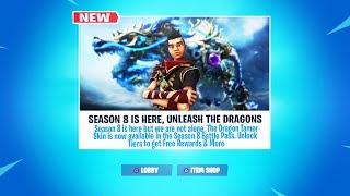 The New SEASON 8 DRAGON SKIN in Fortnite (Season 8 Skins)
