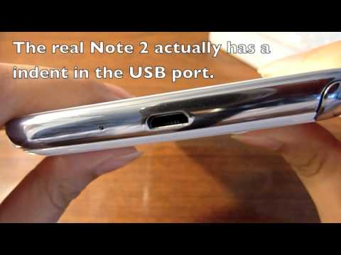 Real or Fake Samsung Galaxy Note II (2)