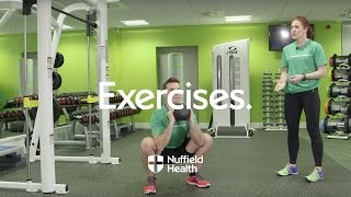 How to Perform Kettlebell Swing With Flip to Squat | Nuffield Health