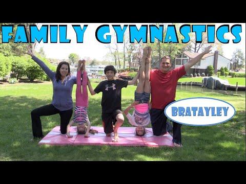 Family Gymnastics Challenge | Bratayley