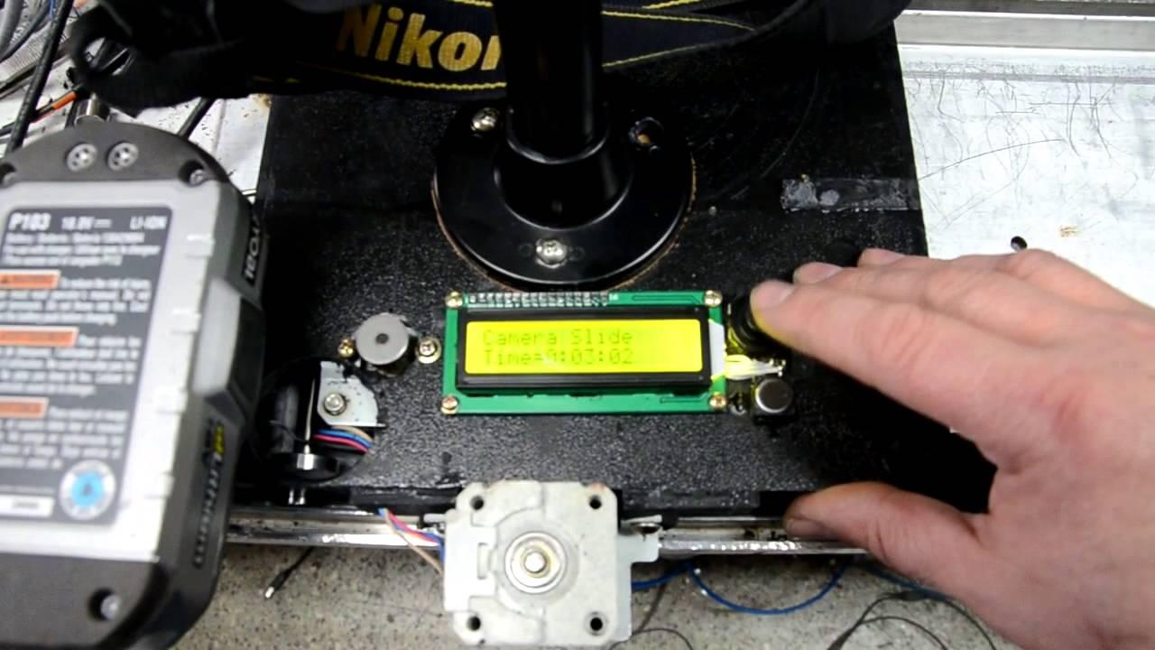Home made camera slider stepper motor arduino for Stepper motor camera slider
