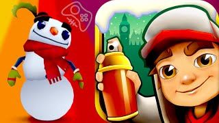 BUDDY AND SNOWFLAKE BOARD! Subway Surfers: London Christmas Special Gameplay (iPhone, iPad, Android)