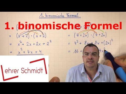 1. binomische Formel   quadratische Gleichungen   Mathematik   Lehrerschmidt