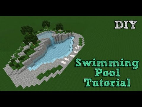 Minecraft Tutorial: Building A Swimming Pool #1