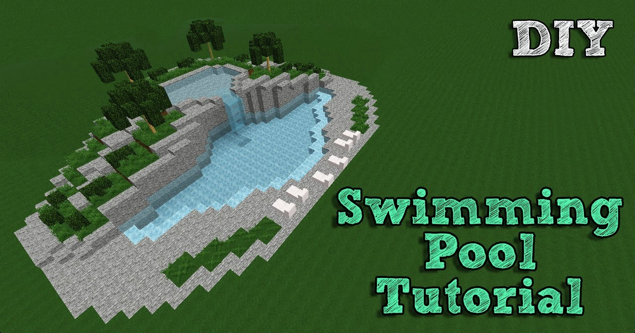 Minecraft Tutorial Building A Swimming Pool 1 Youtube