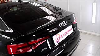 AUDI A5 BLACK WORLD CLASS AUTO DETAILING ..FINAL WALK THROUGH
