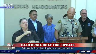 MANY STILL MISSING: Autorities give an update to the Santa Cruz boat fire