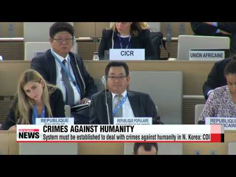 System must be established to deal with crimes against humanity in N. Korea: COI