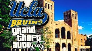 GTA 5: UCLA University Easter Egg  - ULSA University Campus Tour