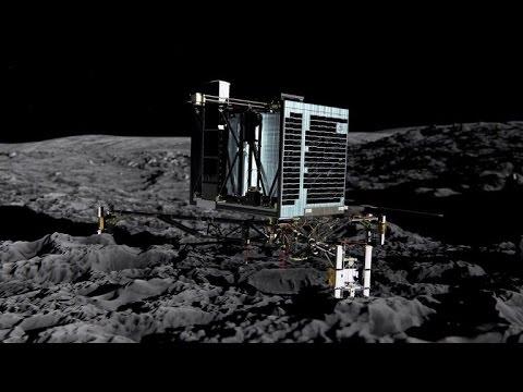 European probe lands on comet