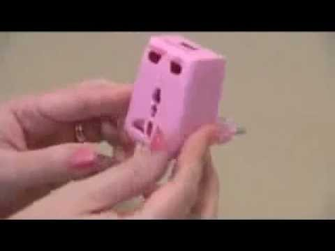 Pink World Travel Adapter Kit