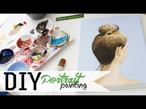 How To Paint - Hair Bun Portrait w/ Acrylics 3/3 | ANNEORSHINE