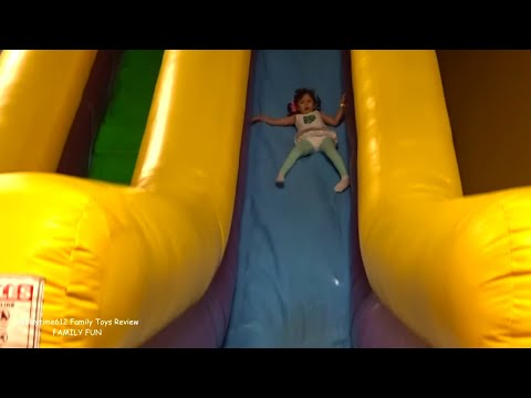 Indoor Playground Kids Fun Play with Giant Slides, Hello Kitty Inflatables and more!