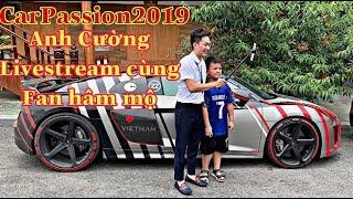 CarPassion2019 | Chị Đàm Thu Trang lái Audi R8 cực phê để chồng Mr. Cường Livestream cùng Fan