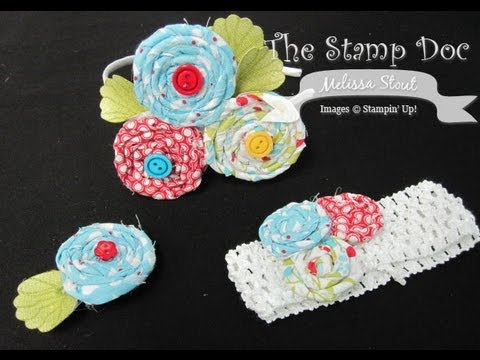how to make easy fabric rosettes