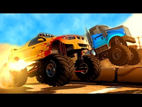 МАШИНЫ МОНСТРЫ Игровой мультик про машинки для детей Игра мультфильм гонки на машинах MMX Hill Climb