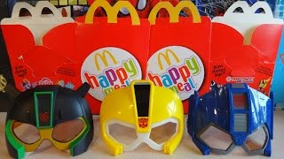 2015 Transformers Robots in Disguise Mask Complete Set in Happy Meal McDonalds Europe
