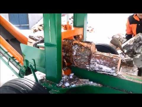 Homemade Log Splitter 30ton with conveyor