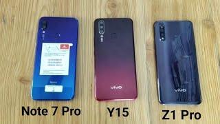 vivo Z1 pro vs redmi Note 7 Pro vs vivo Y15 SpeedTest and Camera Comparison full of final