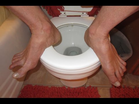 How to Squat Directly on a Toilet!