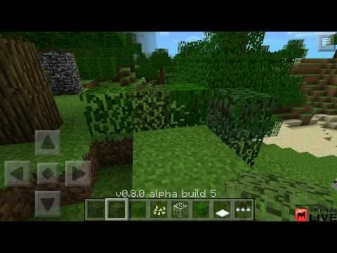 Minecraft Pocket Edition 0.8.0 Beta Alpha Build 5 Beta Test Livestream