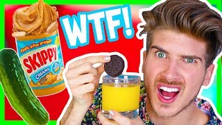 TRYING WEIRD FOOD COMBINATIONS!