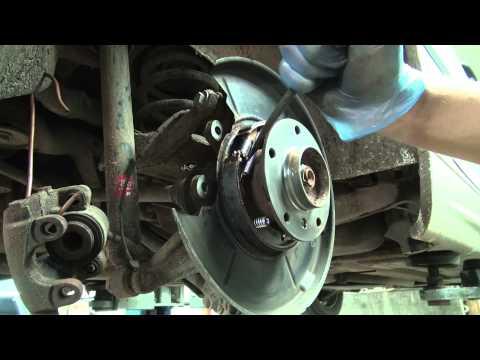 BMW e46 320d wymiana szczęk. klocków. naprawa tylnego układu hamulcowego.