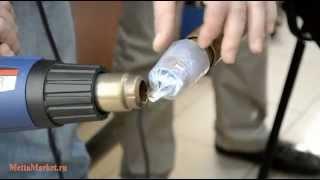 Термоусадочная трубка Zeus PTFE - процесс усадки