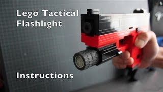 Lego Pistol: Tactical Flashlight add-on Instructions