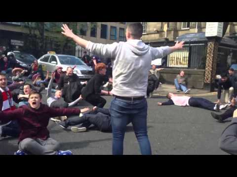 Road trip extra video arsenal fans on way to match