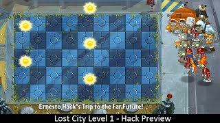 Lost City Level 1 - Hack Preview - Plants Vs. Zombies 2: It