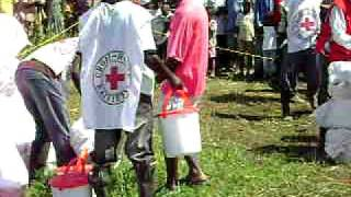 Red Cross Distributing Relief Supplies In Haiti